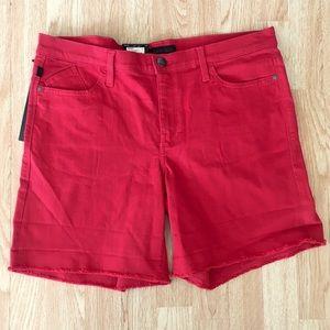 NWT Rock & Republic Red Stretch Denim Shorts